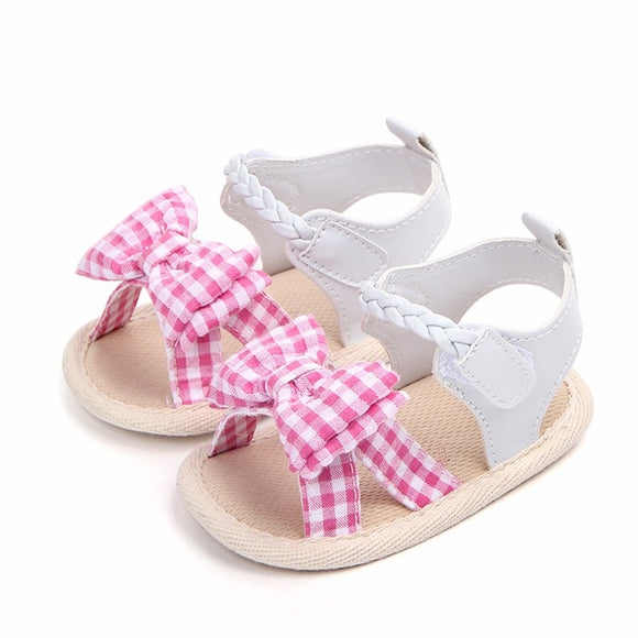 Bookoo Babies Peanut Butter & Jelly Braided Ankle Sandals