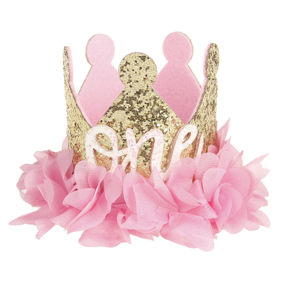 Bookoo Babies Enchanted Rose Gold Birthday Crown
