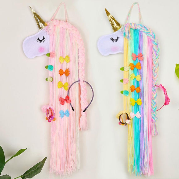 Bookoo Babies Hanging Unicorn Bow Organizer