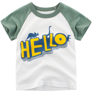 Bookoo Babies Cotton Blend Graphic Tees - Dino Series