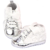 Bookoo Babies Oh So Fancy Metallic Rose Sneakers