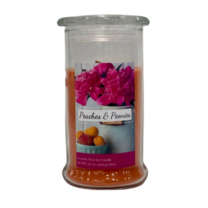 20 oz Jar Candle, Peaches & Peonies