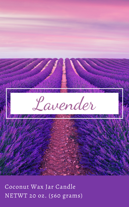 20 oz Jar Candle, Lavender