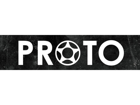 "PROTO Vinyl Banner (White On Black) (12"" x 48"") Banner PROTO Scooters"