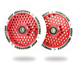 Root Industries Honeycore Wheels White PU - 120mm Parts Root Industries White / Red
