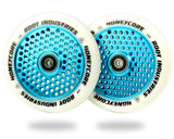 Root Industries Honeycore Wheels White PU - 120mm Parts Root Industries White / Sky Blue