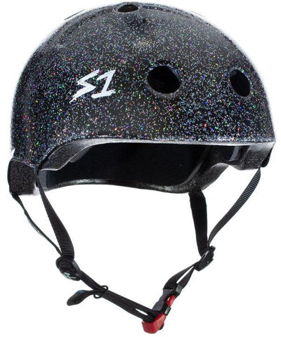 S1 Lifer Helmet - Black Gloss Glitter Safety Gear S1 XS