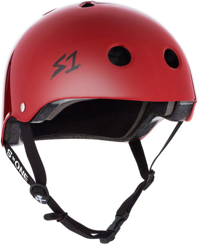 S1 Lifer Helmet - Blood Red Gloss Safety Gear S1 XS