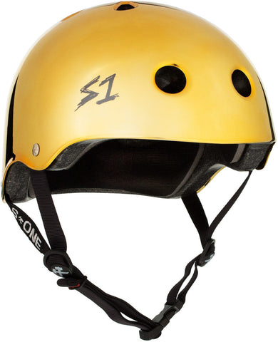S1 Lifer Helmet - Gold Mirror Safety Gear S1 XS