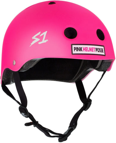 S1 Lifer Helmet - Pink Helmet Posse Matte Safety Gear S1 XS