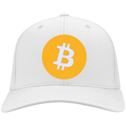 Bitcoin Logo Port Authority Flex Fit Twill Baseball Cap