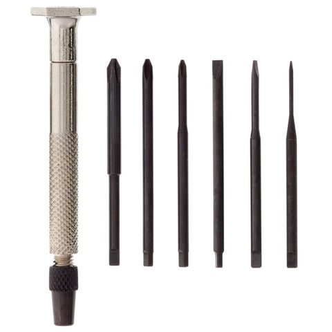 Slotted/Cross Recess Set, 7Pc Steel
