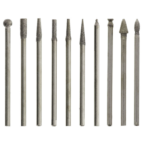 Burr Set, Diamond Coated (2.35mm) 150 Grit 10pc