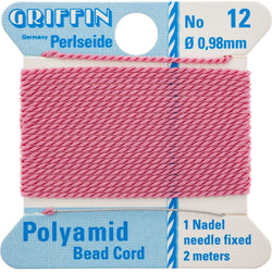Dark Pink Nylon Bead Cord #12