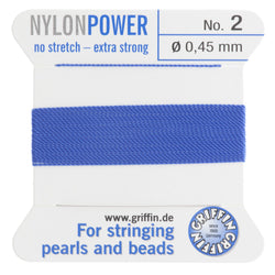 Blue Nylon Bead Cord #2