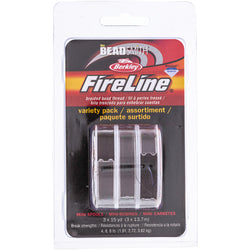 FireLine, Smoke Grey 3PK 1 EA 15yd SPL in 4 6 8LB.