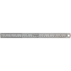 Ruler - Stainless, 12in., 0 in the Middle