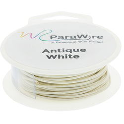 Copper Wire, Silver Plated Parawire 22ga Antique White 60' Roll