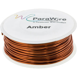 Copper Craft Wire, Parawire 24ga Amber Enameled 150' Roll