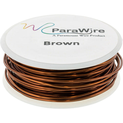 Copper Craft Wire, Parawire 22ga Brown Enameled 100' Roll