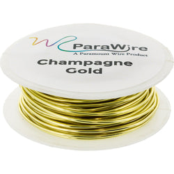Copper Wire, Silver Plated Parawire 18ga Champagne Gold 25' Roll