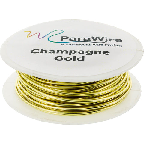 Copper Wire, Silver Plated Parawire 18ga Champagne Gold 25'
