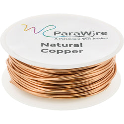 Copper Craft Wire, Parawire 18ga Natural Enameled 50' Roll