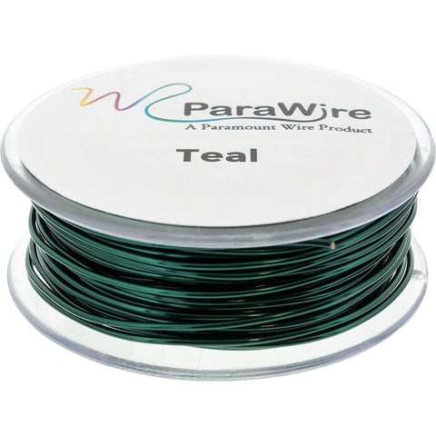 Copper Craft Wire, Parawire 26ga Teal Enameled 200' Roll
