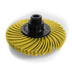 "3M™ 2"" 4-ply Radial Bristle Brush Yellow 80 Grit"