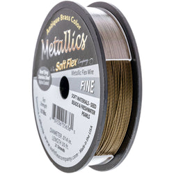 Soft Flex Wire .014 Dia. 30 Ft. 21 Strand Antique Brass