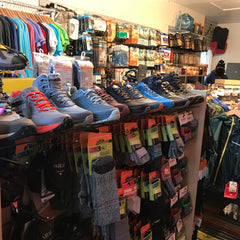 PCT Hiking Shoes and Wool Socks at 2 Foot Adventures