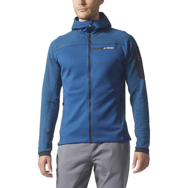 picked up fashion style best price Adidas Outdoors Mens TERREX Stockholm Hooded Fleece Jacket