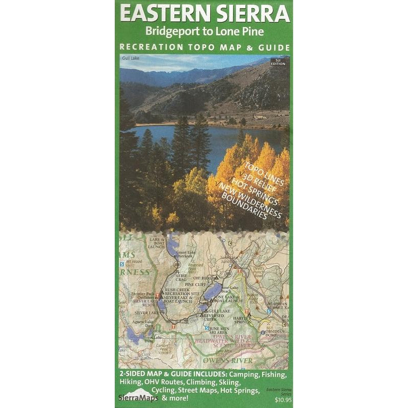 Sierra Maps - Eastern Sierra Bridgeport to Lone Pine