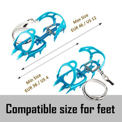 14 Teeth Ultralight Aluminum Alloy Crampons - LIMITED AVAILABILITY