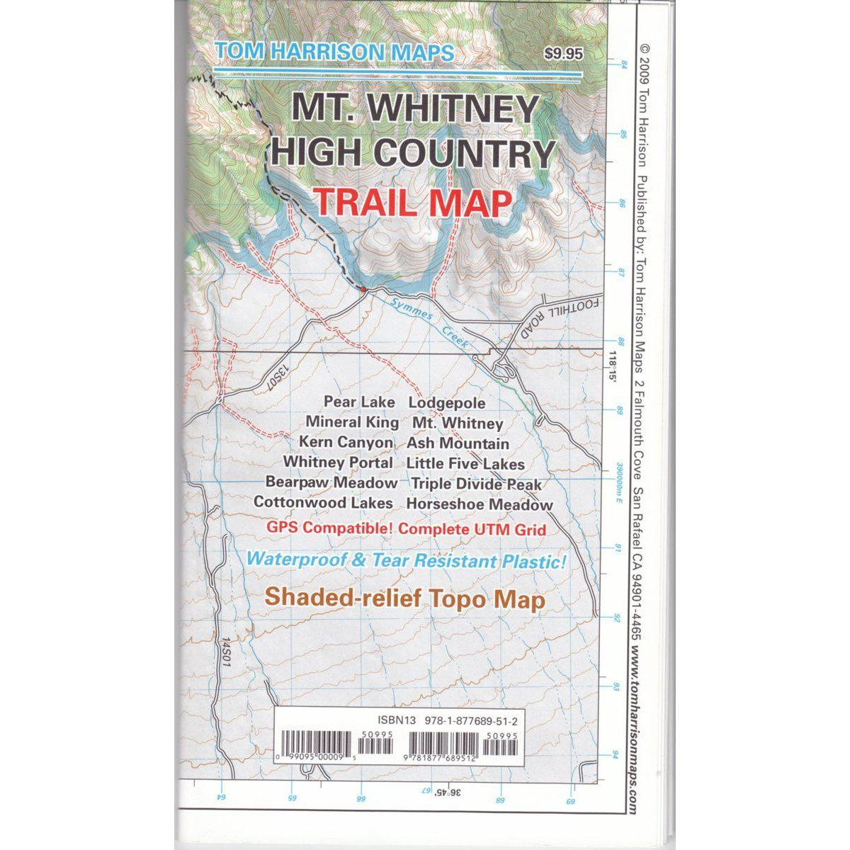 Tom Harrison Maps: Mt. Whitney High Country