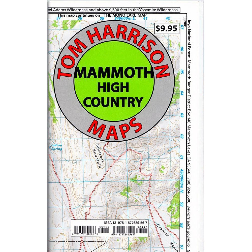 Tom Harrison Maps: Mammoth High Country (Mono Lake to Crowley Lake)