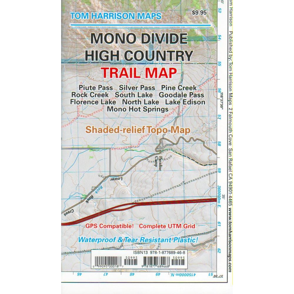 Tom Harrison Maps: Mono Divide High Country (Bishop to Rock Creek)