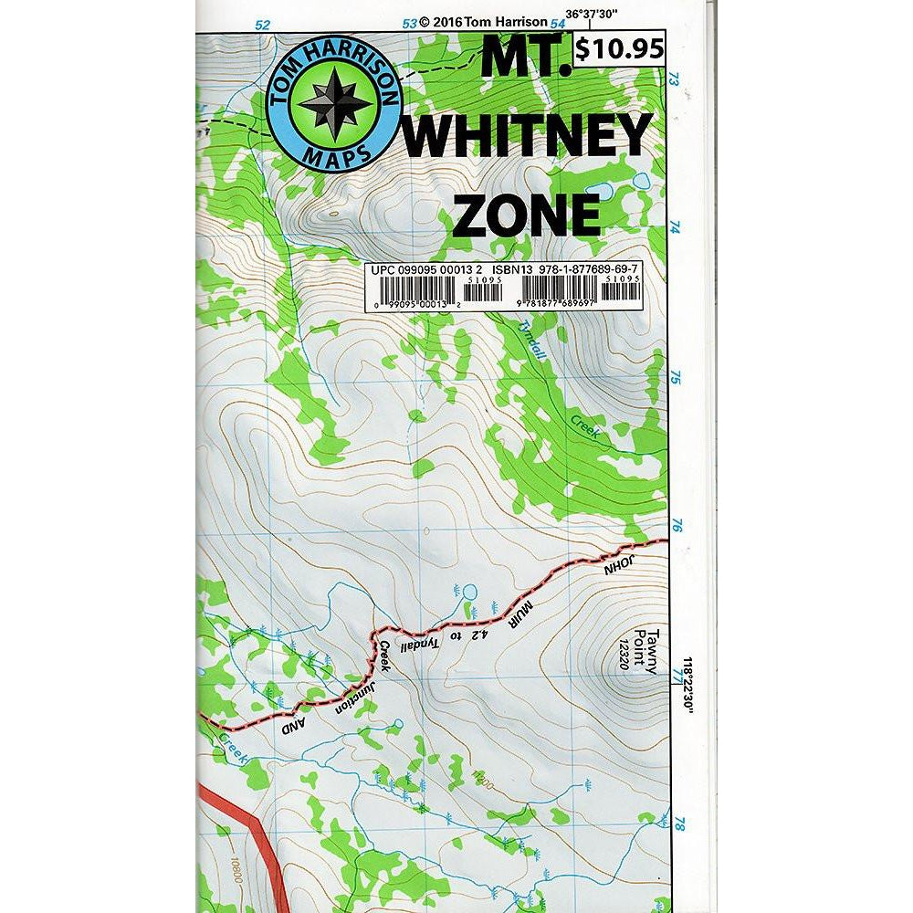 Tom Harrison Maps: Mt. Whitney Zone