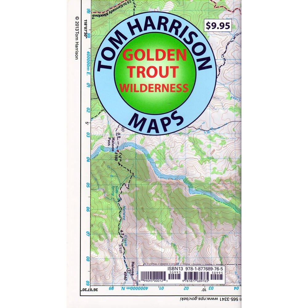 Tom Harrison Maps: Golden Trout Wilderness High Country (South of Lone Pine)