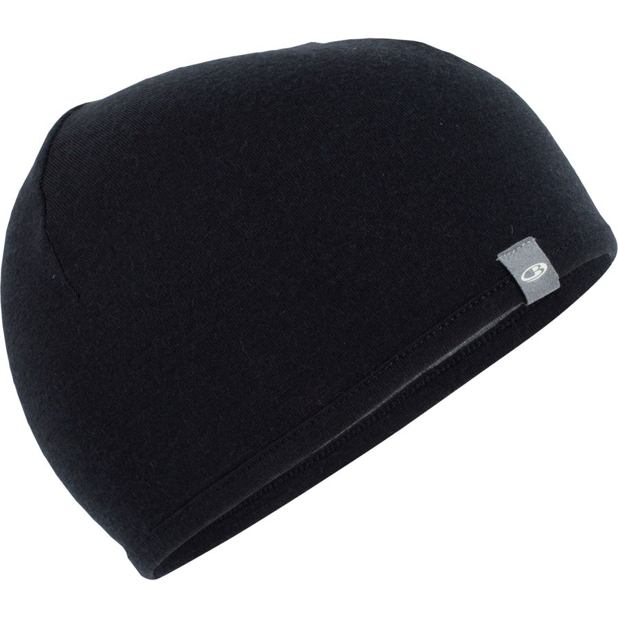 Icebreaker Pocket Hat - OS-Clothing Accessories-Icebreaker-Black/Gristone Heather-2 Foot Adventures