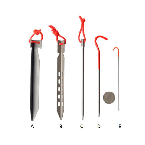 2 Foot Adventures Titanium Shepherd Hook Tent Stake (single)