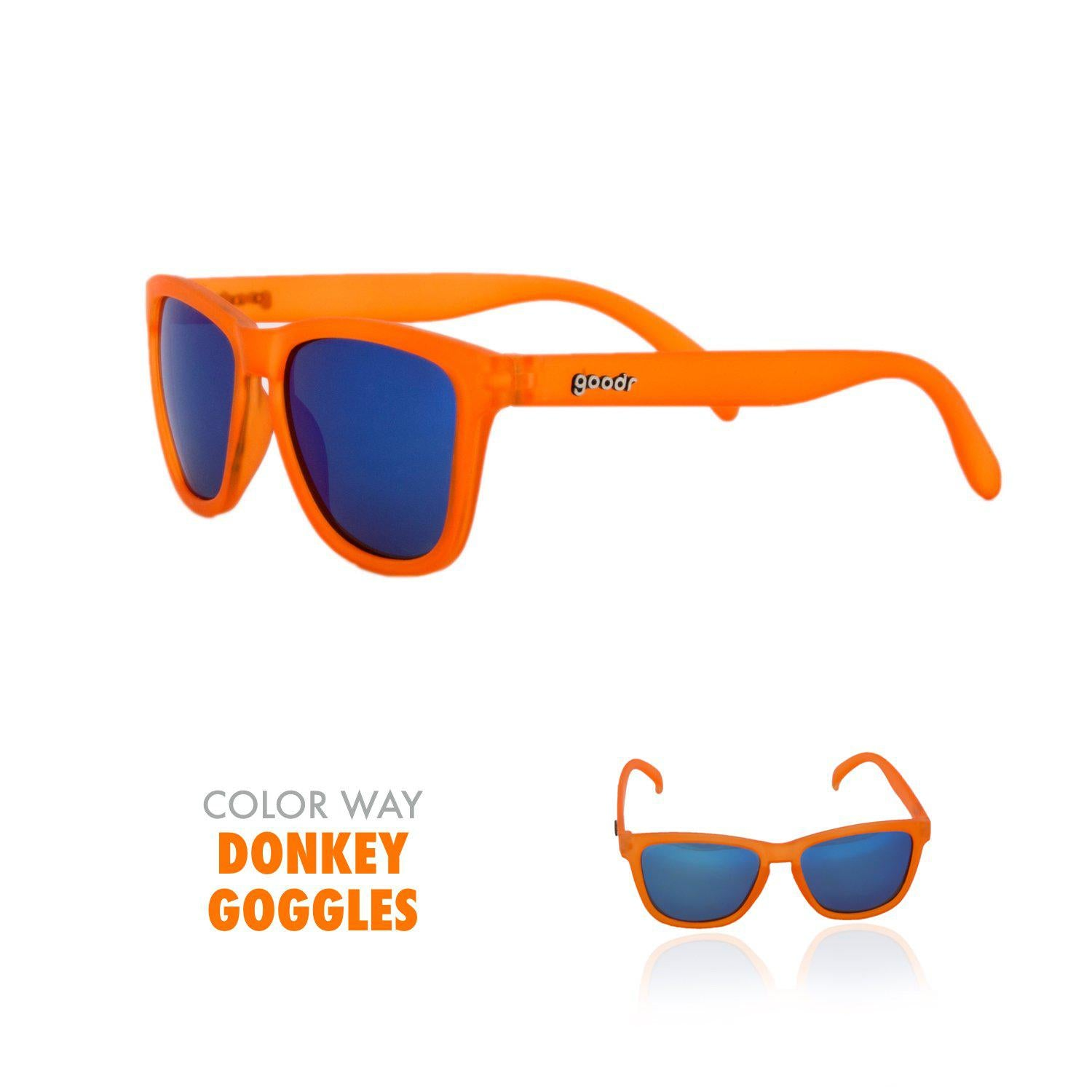 Goodr Running Sun Glasses-Clothing Accessories-Goodr-Donkey Goggles-2 Foot Adventures