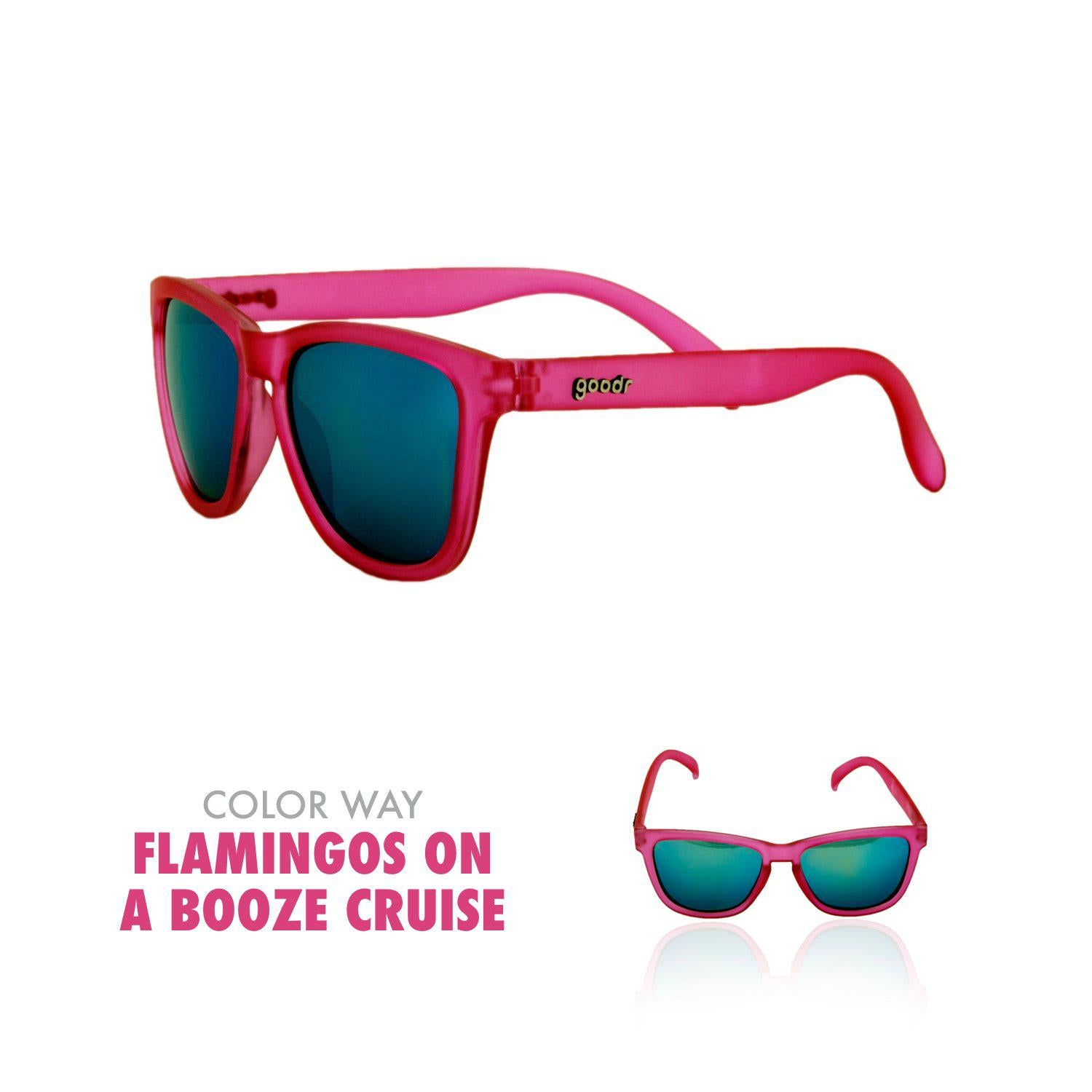 Goodr Running Sun Glasses-Clothing Accessories-Goodr-Flamingo's on a Booze Cruise-2 Foot Adventures