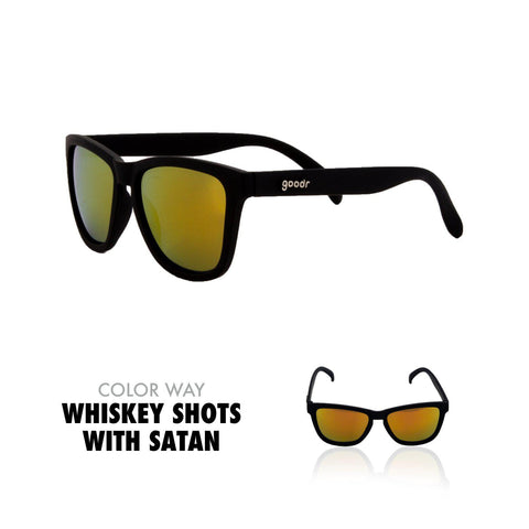 Goodr Running Sun Glasses-Clothing Accessories-Goodr-Whiskey Shots w/ Satan-2 Foot Adventures