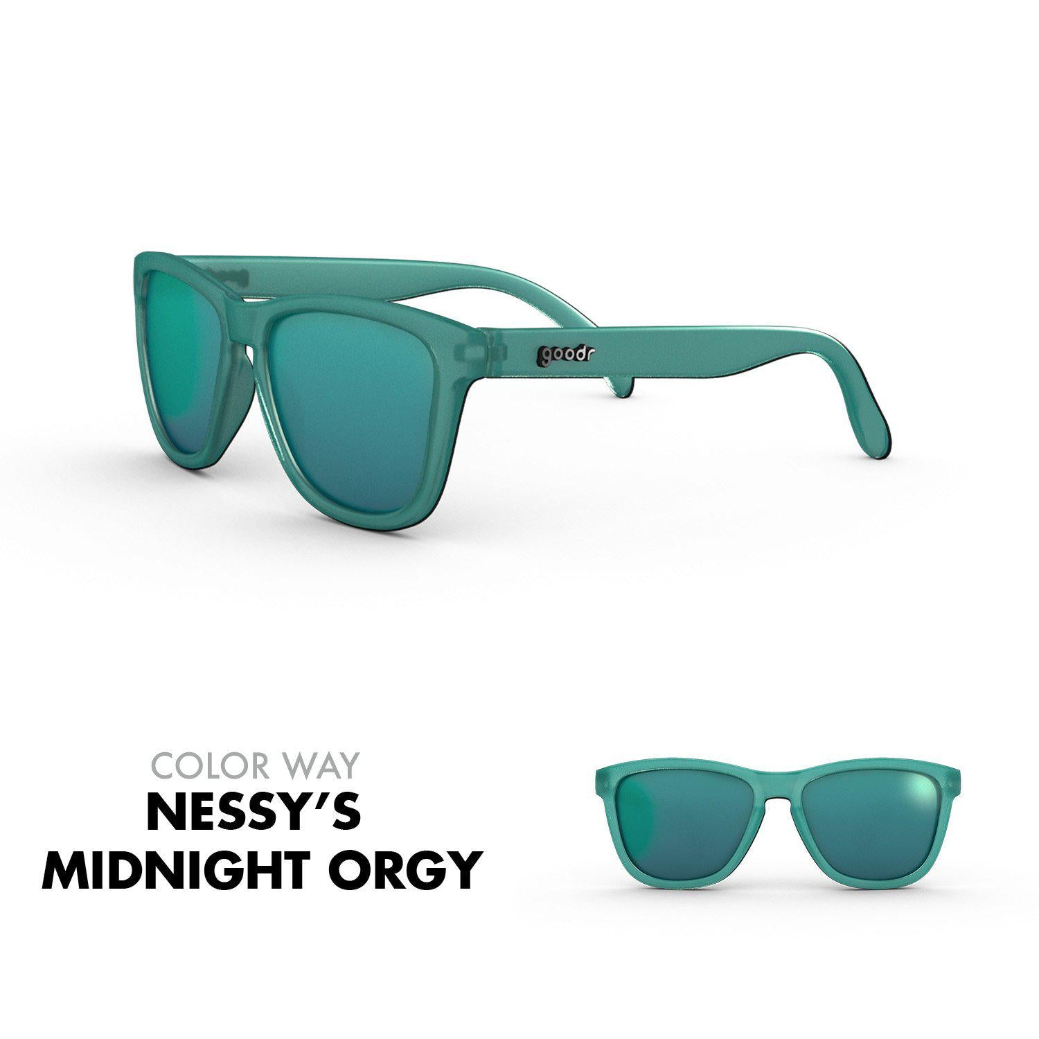 Goodr Running Sun Glasses-Clothing Accessories-Goodr-Nessy's Midnight Orgy-2 Foot Adventures
