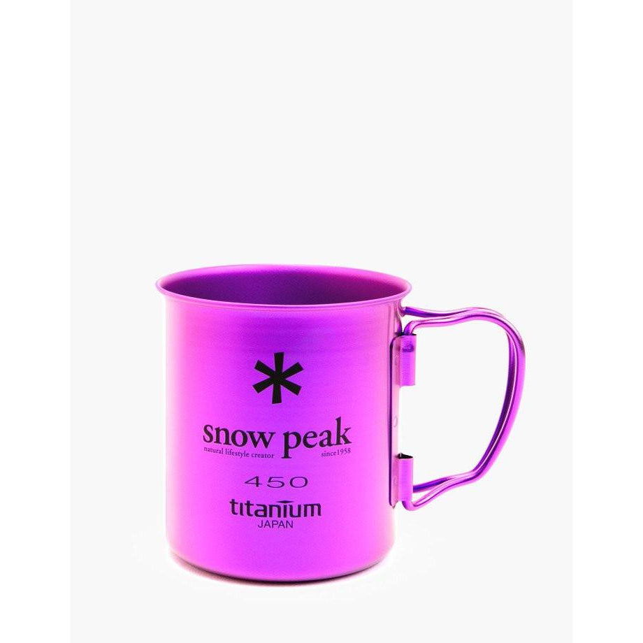 Snow Peak Titanium Singe Wall Colored Cup, 450