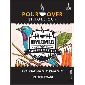 Idyllwild Coffee Roaster's French Roast Colombian Organic Coffee