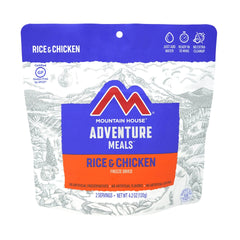 MOUNTAIN HOUSE ADVENTURE MEALS RICE AND CHICKEN