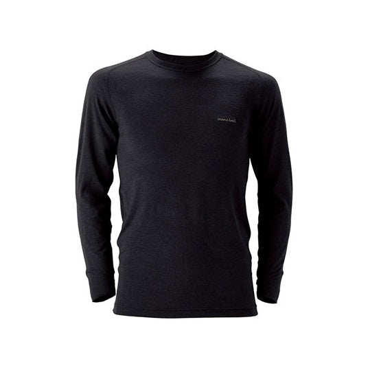 Montbell Men's Super Merino Wool Round Neck Base Layer Shirts