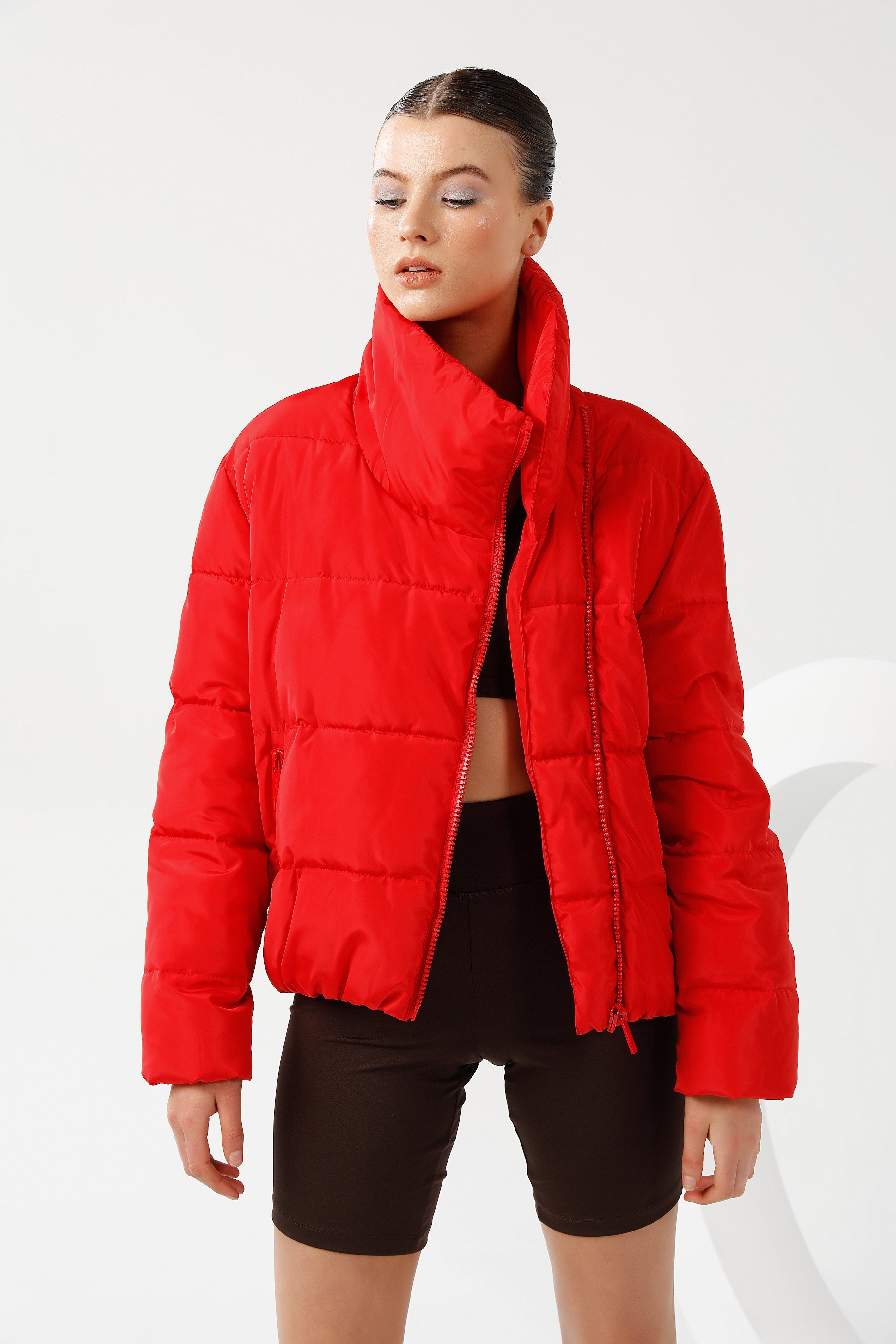 Jupiter Puffer Jacket - Red Short Jacket Toast Society